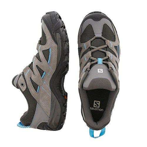 Salomon Damen Trekkingschuh HATOS 3 W Walking, in Grau/Schwarz/Blau