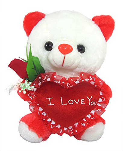 Buy Tickles White Cute Teddy With I Love You Heart And Beautiful