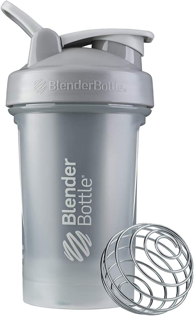 BlenderBottle Classic V2 Shaker Bottle, 20-Ounce, Pebble Grey