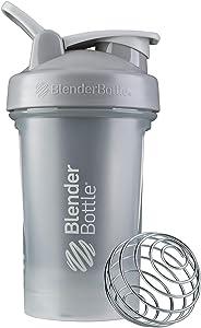 BlenderBottle Classic V2 Shaker Bottle, 20-Ounce, Pebble Grey