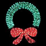 Santa's Gift Shop Indoor / Outdoor Lighted Decorations - 400 Lights 48'' Lighted Crystal Wreath - 400 Lights
