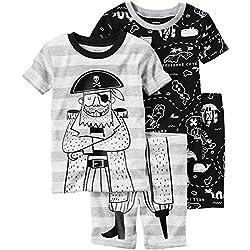 Pirates /& Anchors Unisex Baby Skull /& Crossbones Baby /& Toddler T-Shirt Romper Black, 24 Months Red Print