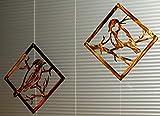 Adorable Birds - Pair - Metal Wall/Window Art - Custom Metal Sign - Metal Art - Gift