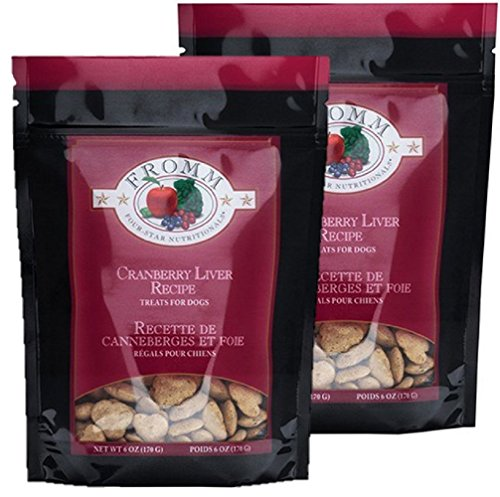 2 Pack Fromm Four Star Cranberry Liver Dog Treats