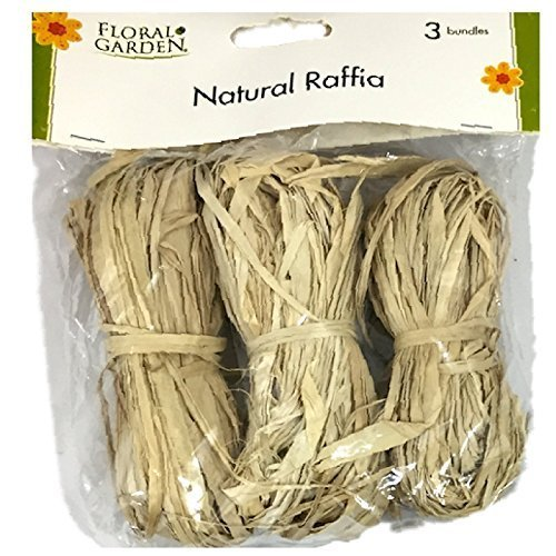 Natural Raffia 3 Bundle Pack - Tan Raffia
