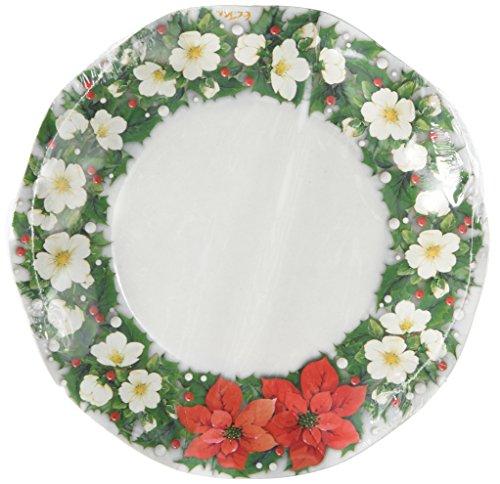 Poinsettia Small Plates   (10/Pkg)