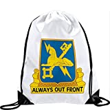 Large Drawstring Bag with US Military Intelligence, regimental insignia - Long lasting vibrant image