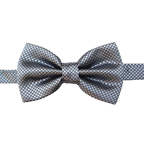 Fine Bow tie,Jacquard Bow tie,Men's bow tie,20 Color Solid Silk Blue Bow Tie Set Men Wedding (J)