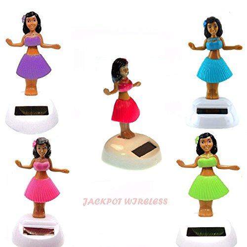 Set of 5 Hawaiian ALOLA Dancing Hula Girl 1 Solar Toy by SpeedMotion (5) (Doll Head Hula Bobble)