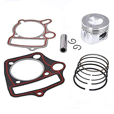 Kazuma Taotao Sunl Coolster Roketa BMS SSR 110cc 125cc Piston Rings Gasket Set 52.4mm Bore: Automotive