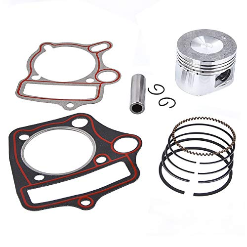 Kazuma Taotao Sunl Coolster Roketa BMS SSR 110cc 125cc Piston Rings Gasket Set 52.4mm Bore ()