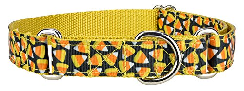 Country Brook Design Candy Corn Ribbon Martingale Dog Collar - Extra Large