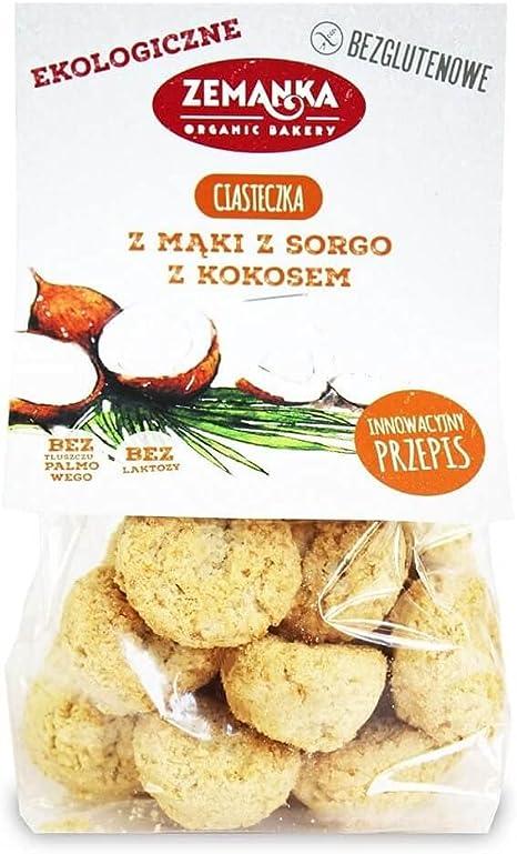 Galletas de harina de sorgo con coco (sin gluten) BIO 100 g ...