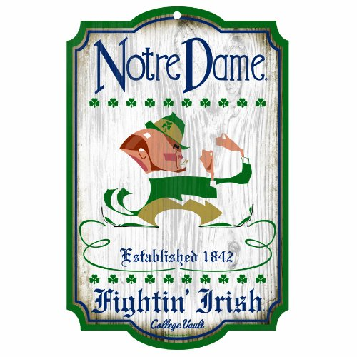 (NCAA Notre Dame Fighting Irish 11-by-17 Wood Sign)