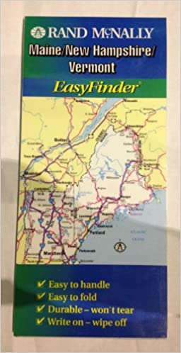 Rand Mcnally Maine New Hampshire Vermont Easyfinder Map Rand Mcnally And Company 9780528989643 Amazon Com Books
