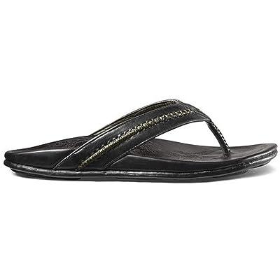 OLUKAI Men's MEA Ola, Black/Black, 11 D - Medium   Loafers & Slip-Ons