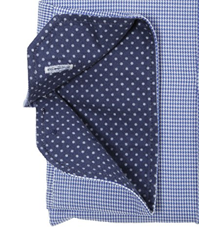 JACQUES BRITT Herren Hemd Langarm Paul Mix Blue Label Slim Fit 273073-015 blau gemustert Größen: 38 39 40 41 42