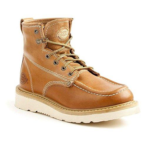 Dickies Men's Trader Steel Toe EH Construction Boot, Luggage tan, 8.5 Medium US
