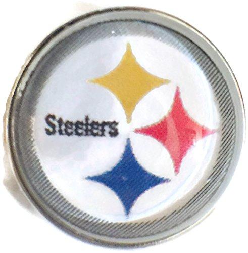 Nfl Logo Charm - Fashion Snap Jewelry NFL Logo Pittsburgh Steelers Snap Charm