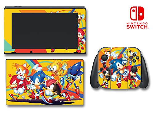Sonic Mania Plus Hedgehog Tails Sega Video Game Vinyl Decal Skin Sticker Cover for Nintendo Switch Console System