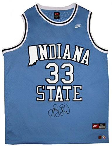 Larry Bird Signed Official Nike Indiana State Basketball (State Nike Jersey)