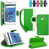 Cellularvilla (Tm) Case for Samsung Galaxy S2 S II T989 Tmobile PU Leather Wallet Card Flip Open Case Cover Pouch. (Green White)