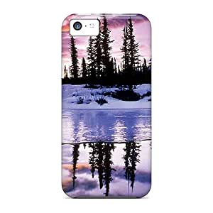 Casecover88 Iphone 5c Well-designed Hard Cases Covers Winter Reflection Protector