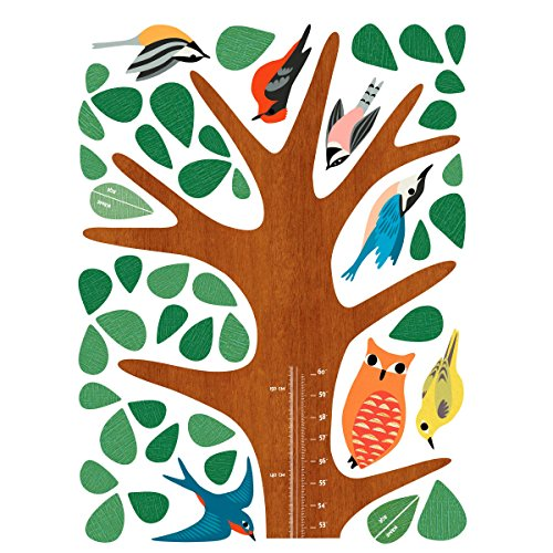 Wallies Wall Decals, Woodland Tree Growth Chart Wall Sticker, 17-1/4-inch x 55-inch