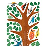 Wallies Peel & Stick Vinyl Wall Decals, Woodland Growth Chart Wall Sticker, Includes 1 Tree Wall Sticker, 12 Animals, Accessories And 4 Leaf Marker Decals