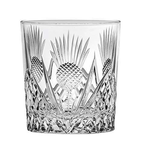 Royal Scot Crystal Scottish Thistle Crystal 11oz Large Whisky Glass Tumble | Large Scottish Whisky Tumbler
