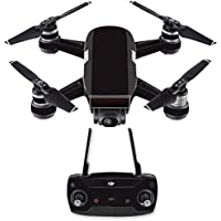 Skin for DJI Spark Mini Drone Combo - Solid Black| MightySkins Protective, Durable, and Unique Vinyl Decal wrap cover | Easy To Apply, Remove, and Change Styles | Made in the USA