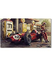 Race Car Artwork Vintage Car Poster Classic Racing F1 Canvas Painting Wall Art Picture Print For Home Living Room Decor