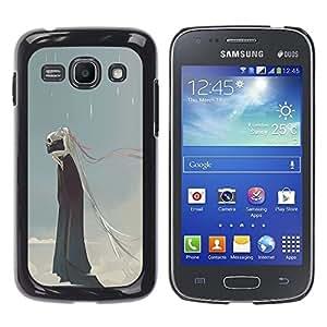 Be Good Phone Accessory // Dura Cáscara cubierta Protectora Caso Carcasa Funda de Protección para Samsung Galaxy Ace 3 GT-S7270 GT-S7275 GT-S7272 // Rain Death Monster Blue Clouds Sk