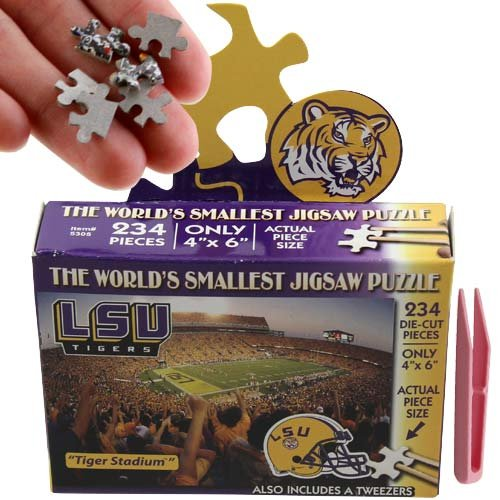 (NCAA LSU Fightin Tigers World's Smallest Puzzle )