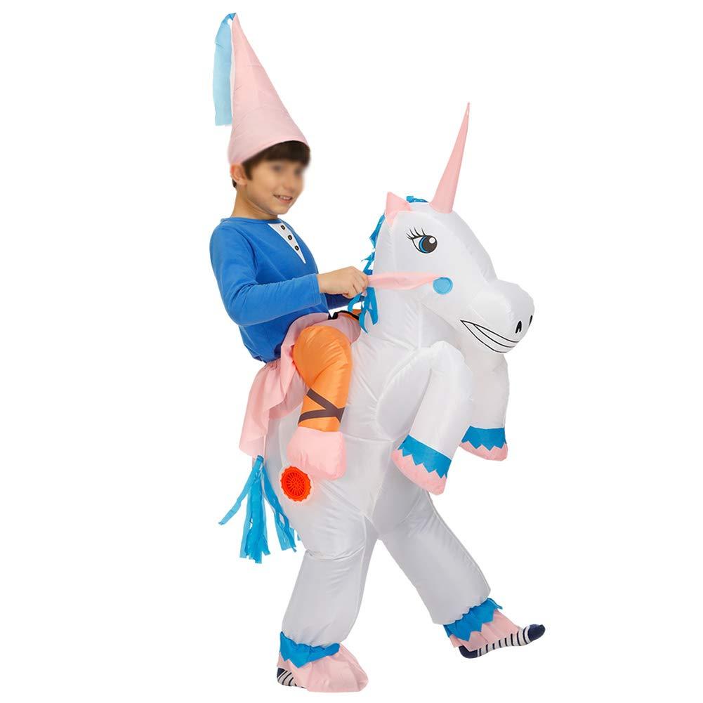 XXLLQ Disfraz Hinchable de Unicornio Adulto/Niño Ropa ...