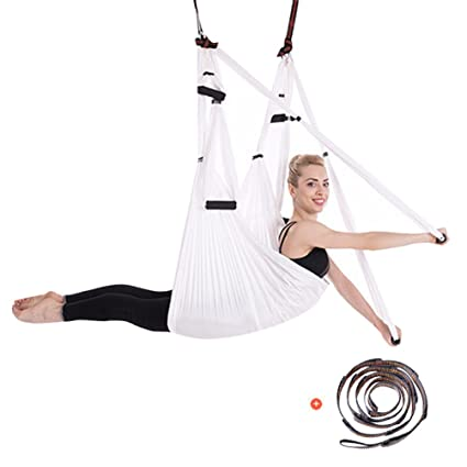 Yuanu Multifuncional Yoga Hamaca/Swing/Silla Colgante Aéreo Yoga Inversión Fitness Ejercicios Hammock para Casa