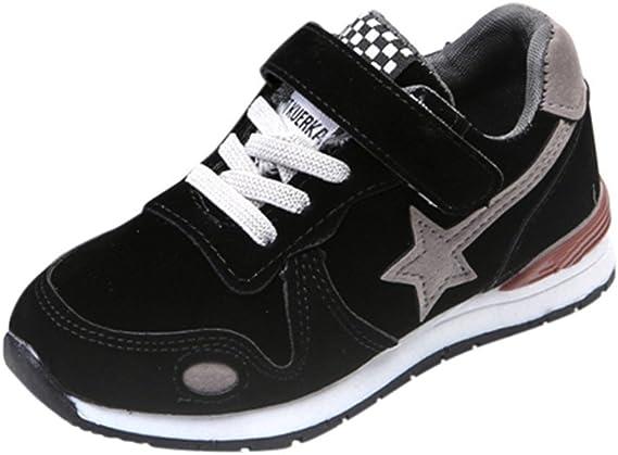 Longra Bébé Garçons Filles Sport Chaussures Étoile Engrener Chaussures Baskets Enfants Chaussures de Sport Sneaker Running Fitness Mesh Sneakers Mode