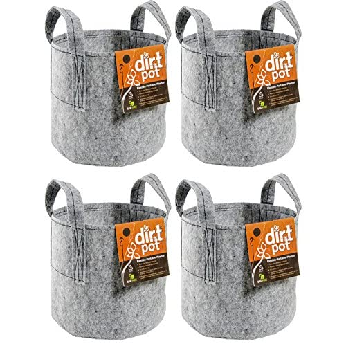 "Cheap (4) HYDROFARM HGDB10 10 Gallon Portable Dirt Pot Garden Planters | 16 x 12.5"""