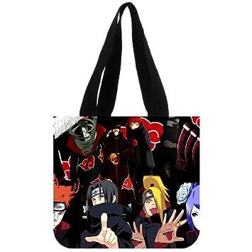 b981ebc73 Cremallera de diseño de Naruto personajes de dibujos animados personalizados  Lienzo Bolso (Twin Sides) J: Amazon.es: Equipaje