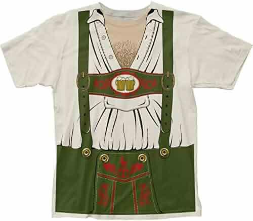 Impact Originals Octobeerfest Oktoberfest Mens White Costume T-Shirt