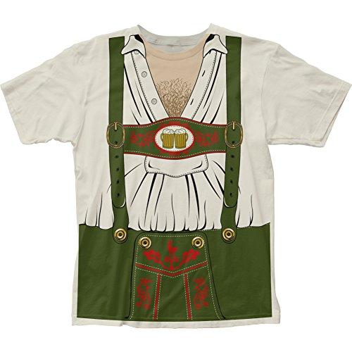 Oktoberfest Dutch German Hairy Chest Costume Outfit Mens T-shirt Vintage White (3X-Large)