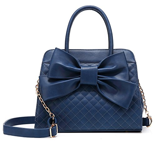 Quilted Patent Bag (Scarleton Quilted Satchel H104819N - Navy)