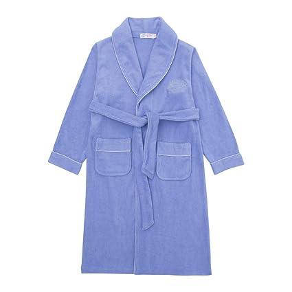 Pijamas dos piezas Bata de Noche Bata de baño Chico Toalla algodón, otoño e Invierno