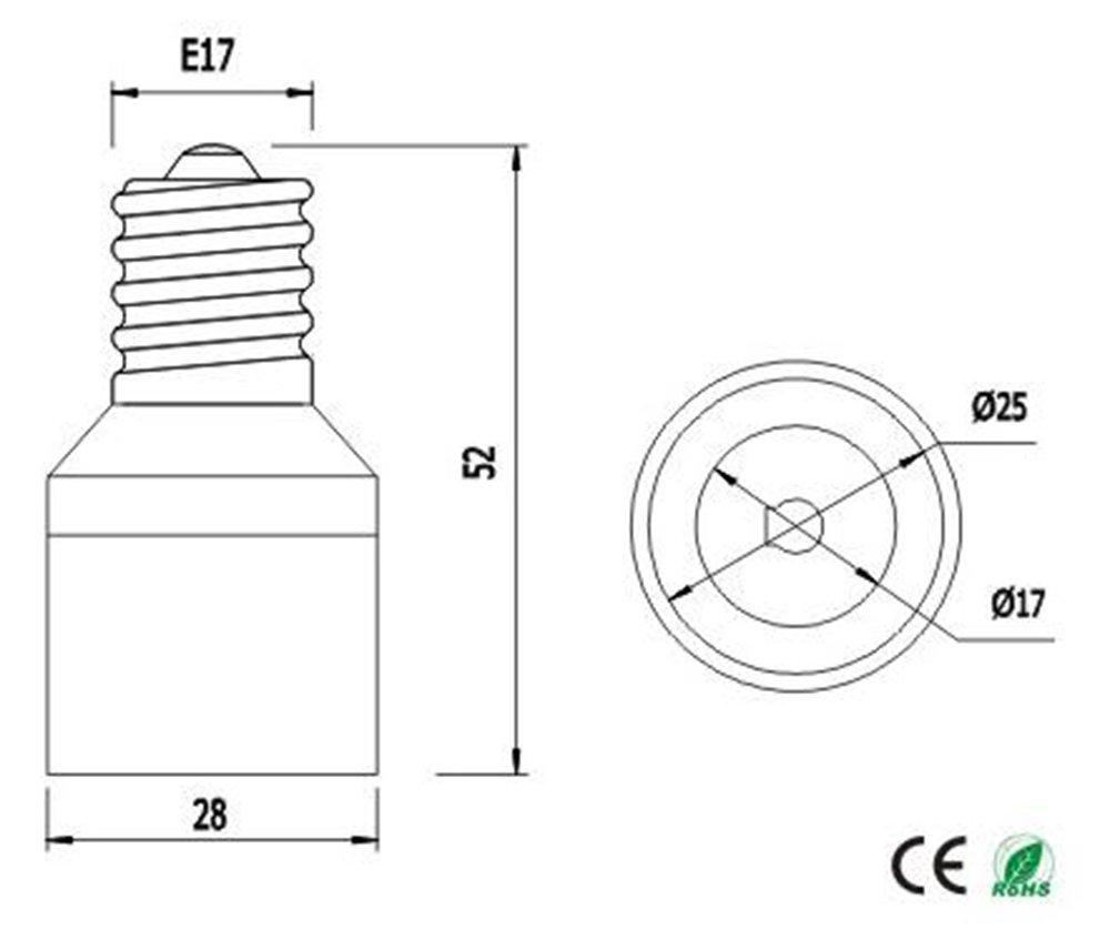 Lamp Holder LED Bulb Base Adapter E12 US Chandelier Base to E14 EU Candelabra Base Converter 6pcs E12 to E14 Adapter 6pcs E12 to E14 Adapter,E12 to E14 Lamp Socket Adapter