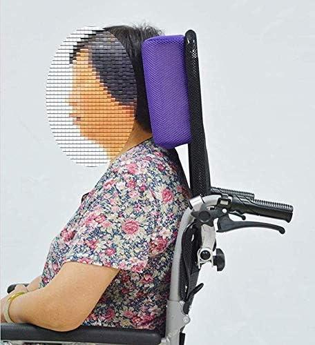 FANQIE Rollstuhl Kopfstütze Nackenstütze Erwachsenensitzlehnenpolster einstellbar Kissen, tragbares Universal-Rollstuhlzubehör,Black