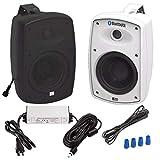 OSD Audio BTP-525BLK 5.25-Inch Wireless Bluetooth Patio Speaker Pair, Black