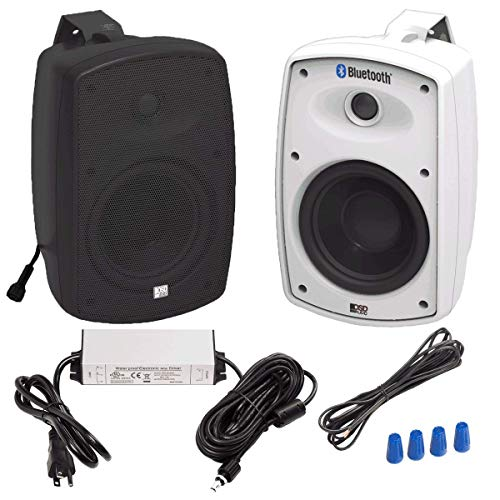 "5.25"" Bluetooth Patio Speaker Black"