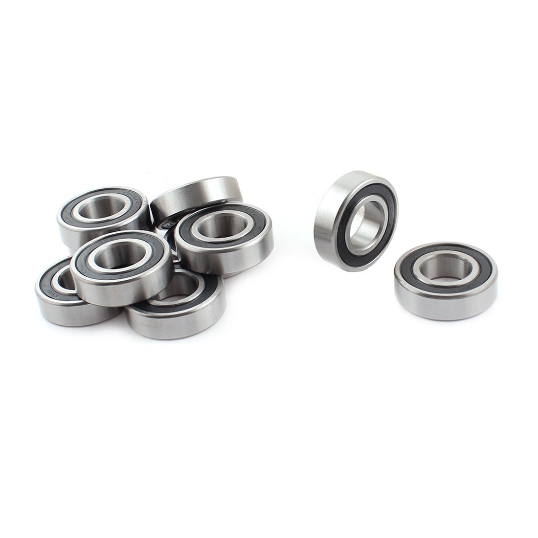 sourcingmap® 10 x 6004RS Shielded Deep Groove Radial Ball Bearings 20mmx42mmx12mm a14111200ux0486