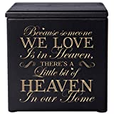 "Cremation Urns for Human ashes - SMALL Funeral Keepsake box - Memorial Gift for home or Columbarium Because someone we love - Holds SMALL portion of ashes 4.5"" (Black 4.5"")"