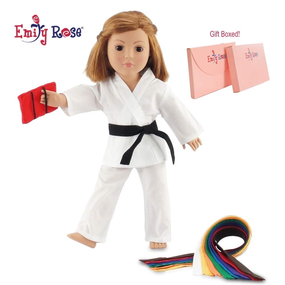 Karate Martial Arts Outfit for 18 inch American Girl Doll Yin and Yang